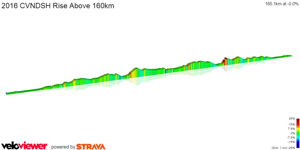 2D Elevation profile image for 2016 CVNDSH Rise Above 160km