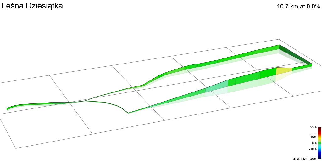 3D Elevation profile image for Leśna Dziesiątka