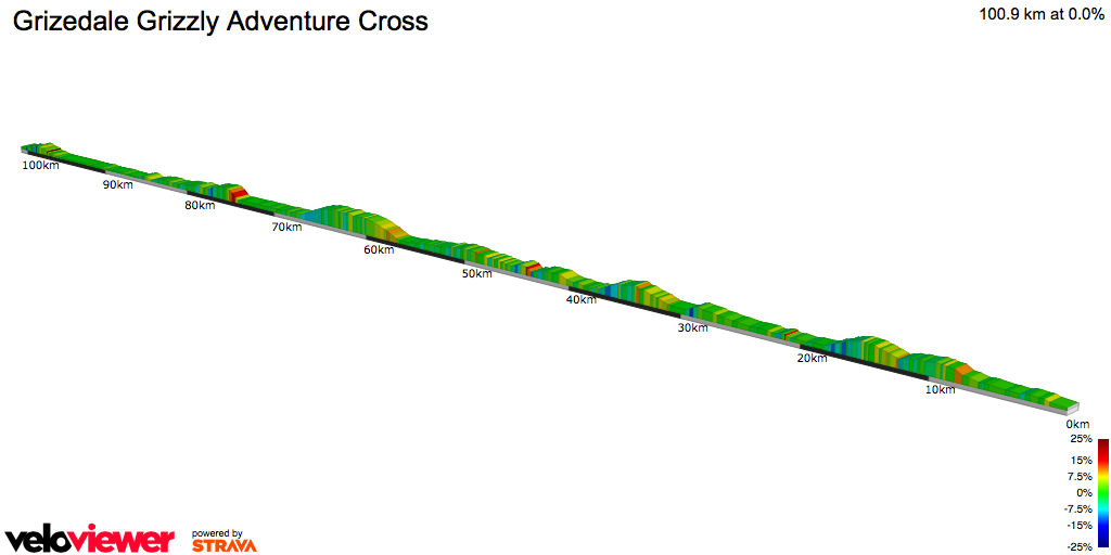 2D Elevation profile image for  Grizedale Grizzly Adventure Cross