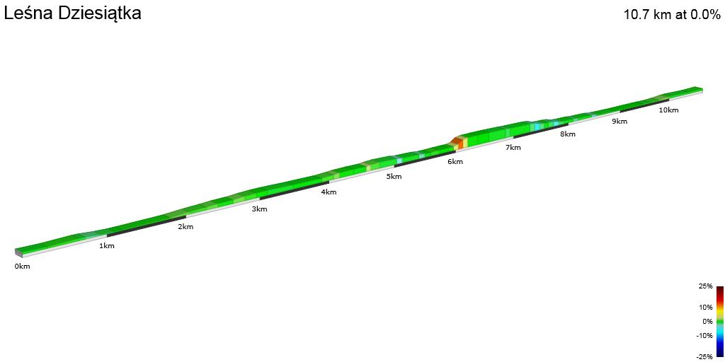 2D Elevation profile image for Leśna Dziesiątka