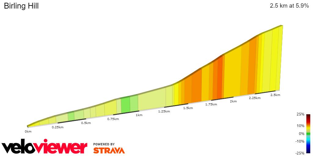 2D Elevation profile image for Birling Hill (full)