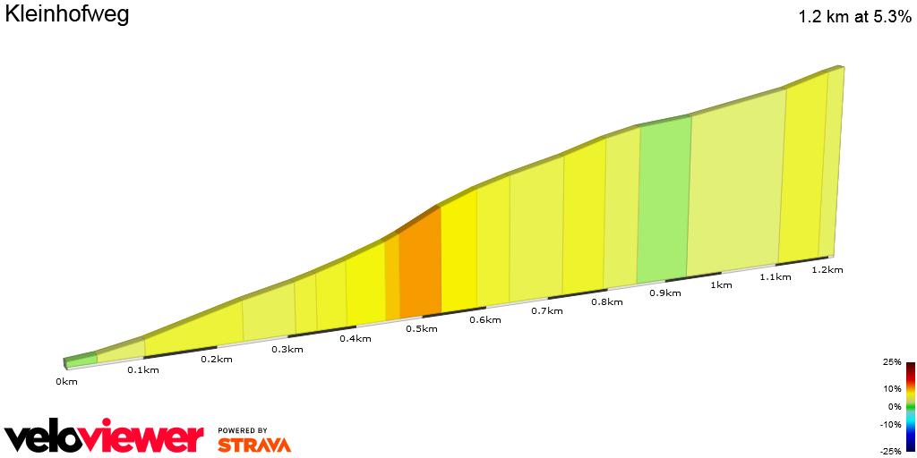 2D Elevation profile image for Kleinhofweg