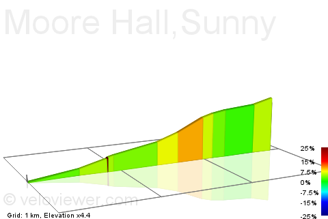 2D Elevation profile image for Moore Hall,Sunny