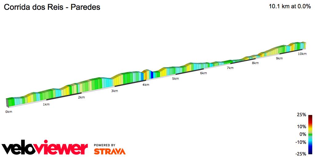 2D Elevation profile image for Corrida dos Reis - Paredes