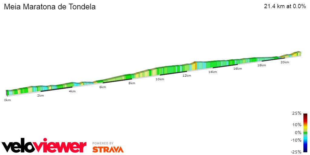 2D Elevation profile image for Meia Maratona de Tondela