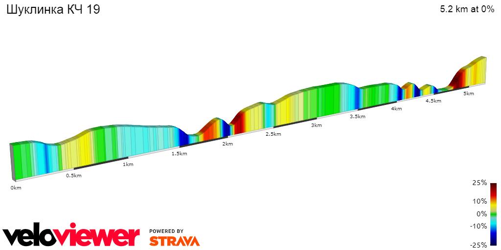 2D Elevation profile image for Шуклинка КЧ 19
