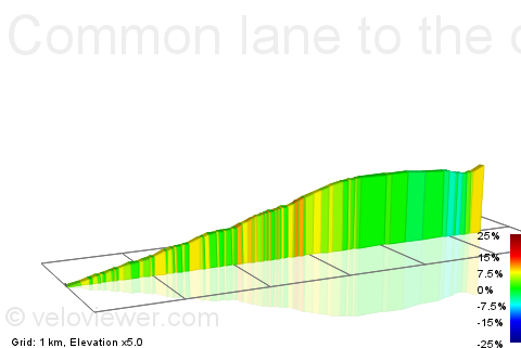 2D Elevation profile image for Common lane to the dale