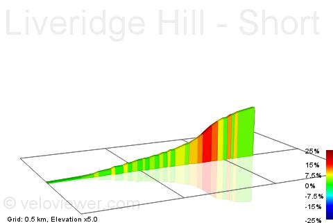 2D Elevation profile image for Liveridge Hill - Short