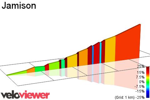 2D Elevation profile image for Jamison