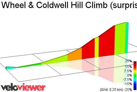 2D Elevation profile image for Wheel & Coldwell Hill Climb (surprise climb)
