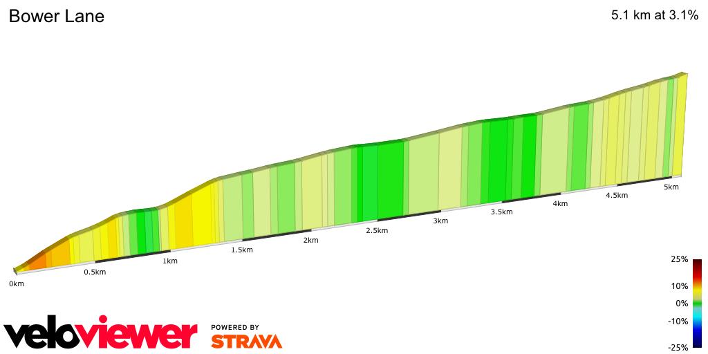 2D Elevation profile image for Bower Lane