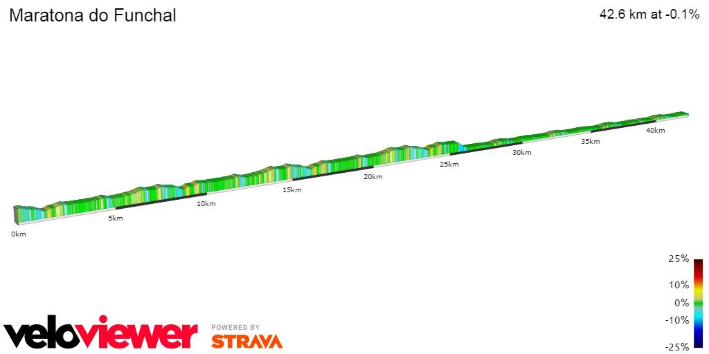 2D Elevation profile image for Maratona do Funchal