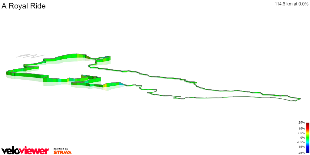 3D Elevation profile image for A Royal Ride