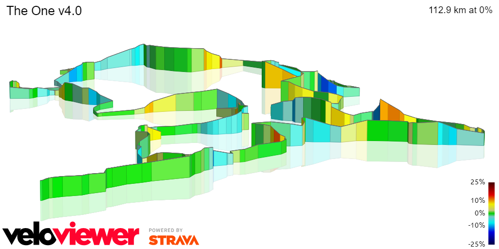 3D Elevation profile image for `The Chilterns One`