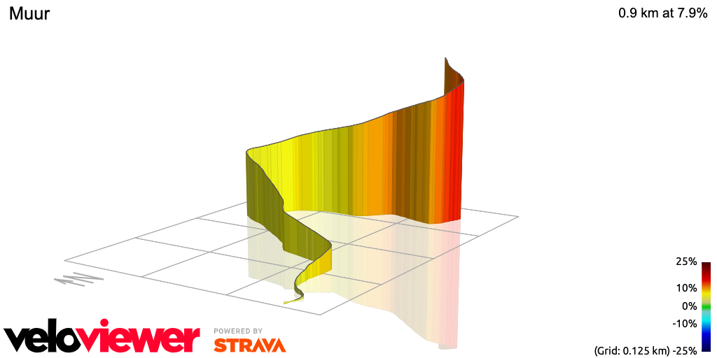 3D Elevation profile image for Muur