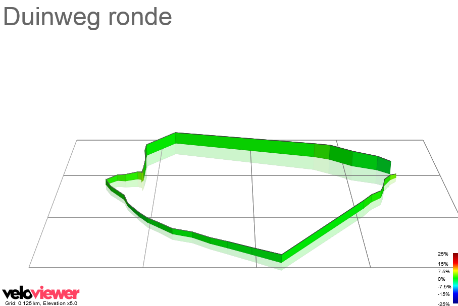 3D Elevation profile image for Duinweg ronde