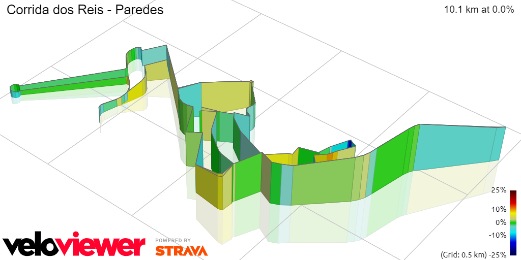 3D Elevation profile image for Corrida dos Reis - Paredes