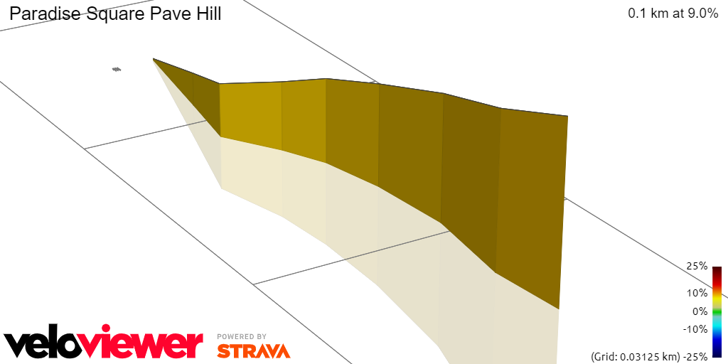 3D Elevation profile image for Paradise Square Pave Hill