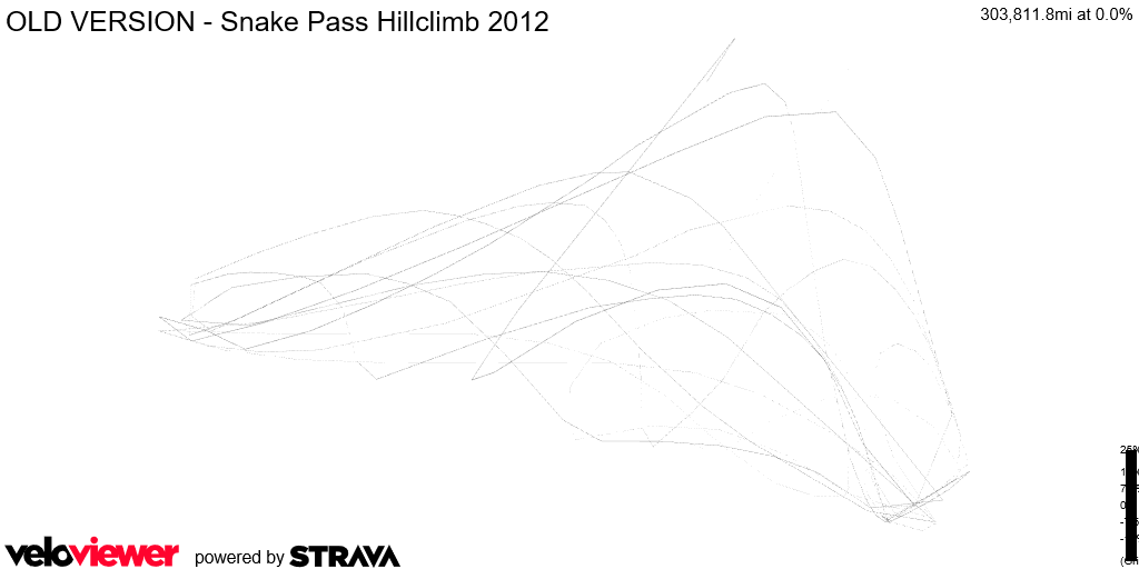 3D Elevation profile image for OLD VERSION - Snake Pass Hillclimb 2012