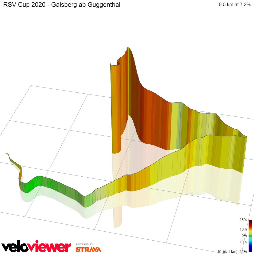 3D Elevation profile image for RSV Cup 2020 - Gaisberg ab Guggenthal