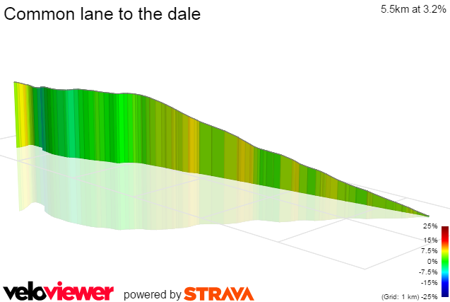 3D Elevation profile image for Common lane to the dale