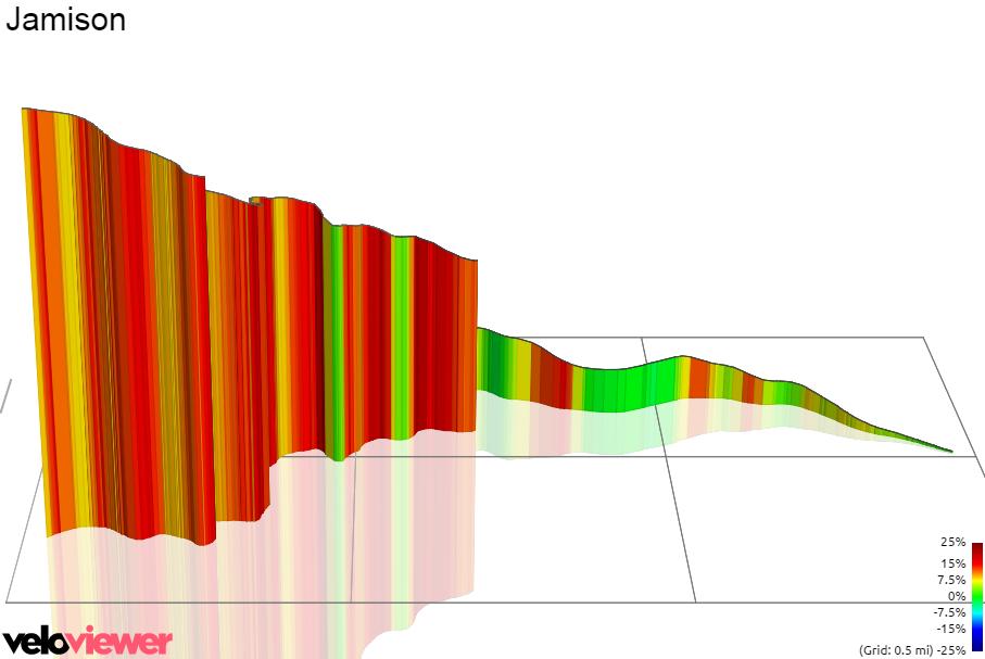3D Elevation profile image for Jamison