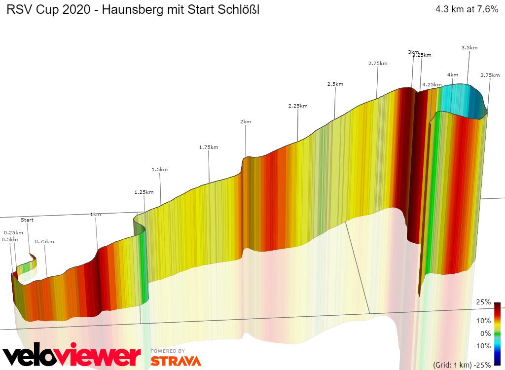 3D Elevation profile image for RSC Cup 2013 - Haunsberg mit Start Schlößl