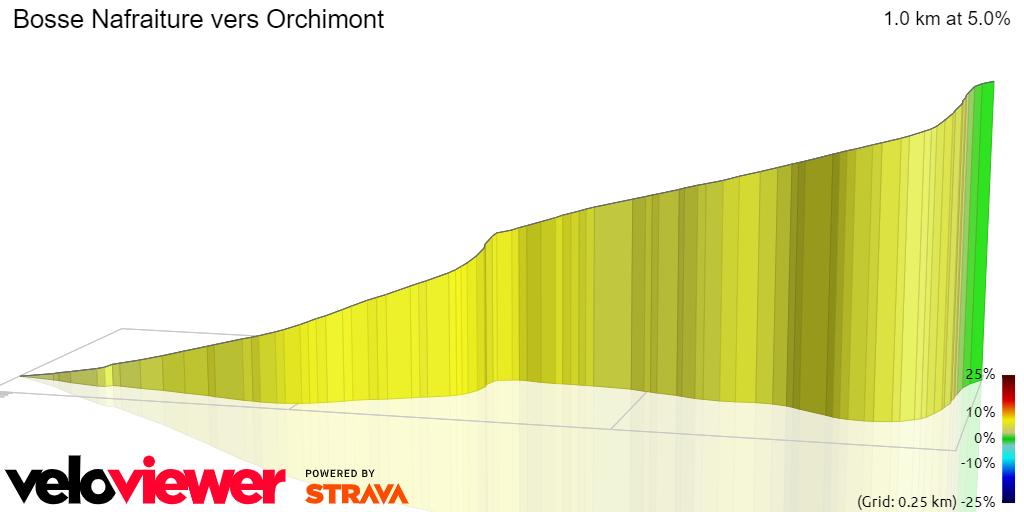 3D Elevation profile image for Bosse Nafraiture vers Orchimont