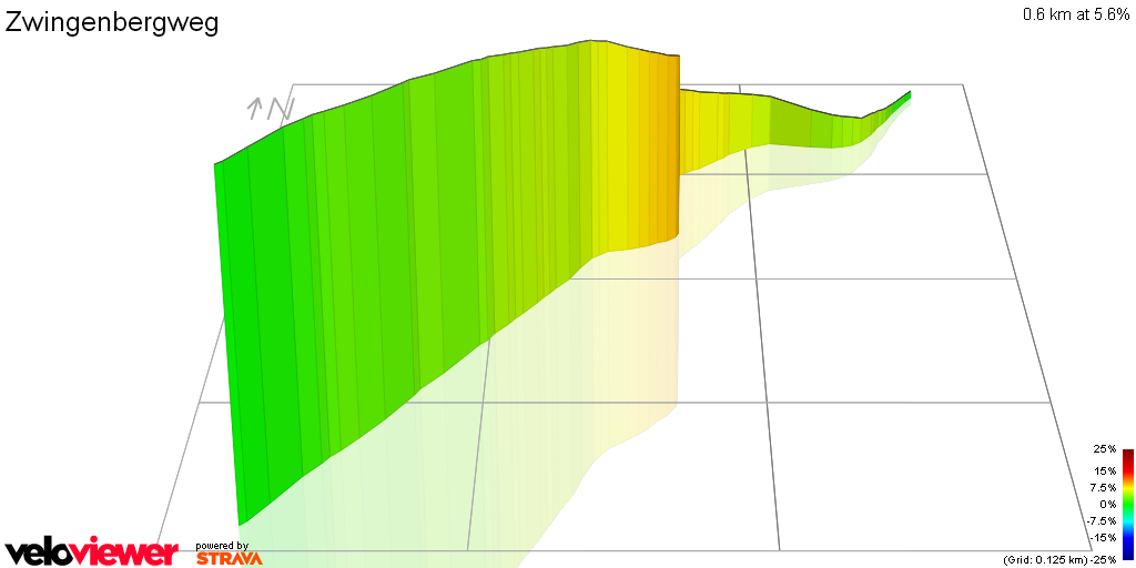 3D Elevation profile image for Zwingenbergweg