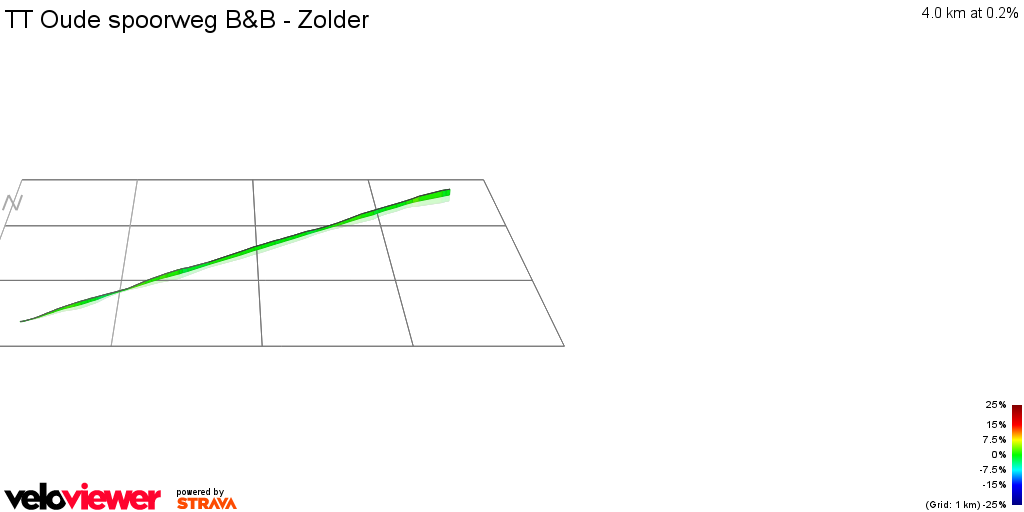3D Elevation profile image for TT Oude spoorweg B&B - Zolder