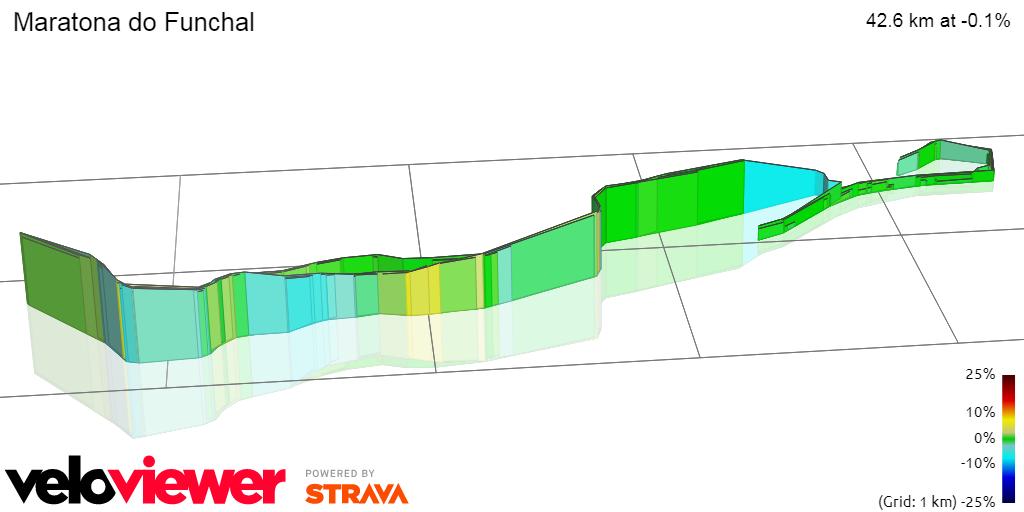 3D Elevation profile image for Maratona do Funchal