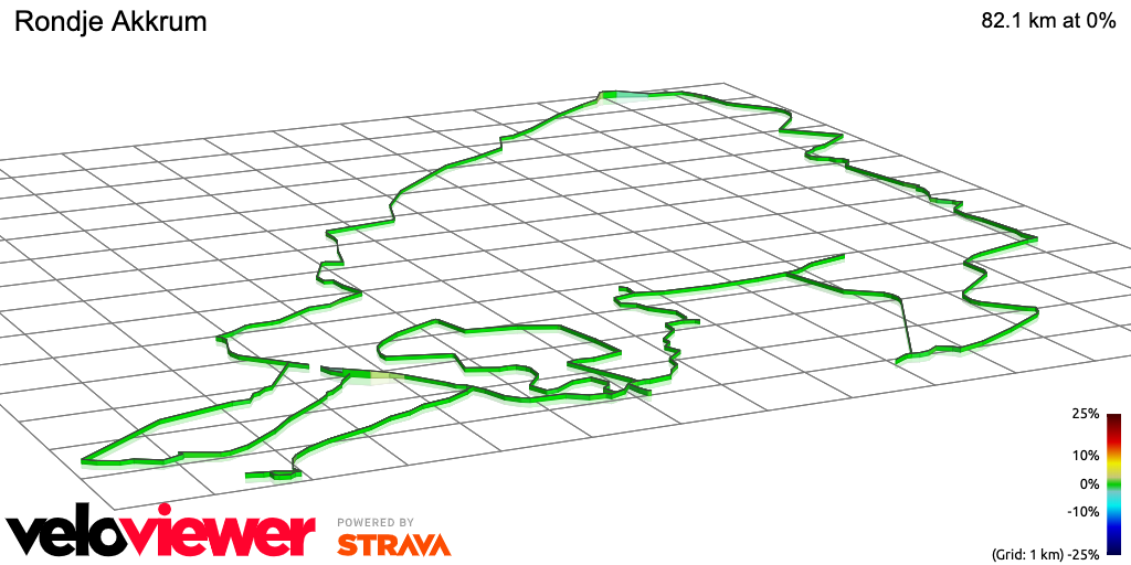 3D Elevation profile image for Rondje Akkrum